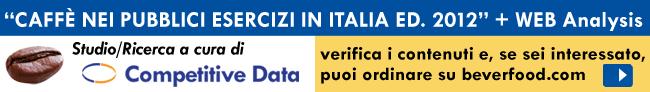 Ricerca di Mercato Studio Competitive Data - Il mercato del caffè nei bar e pubblici esercizi in Italia nel 2011: ancora un calo a volume