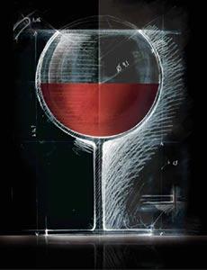 bicchiere novello stilizzato proporzioni forma