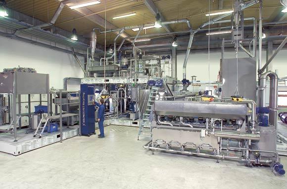 Il grado di purezza raggiunto nel modulo di lavaggio determina la qualità del materiale riciclato che si vuole ottenere