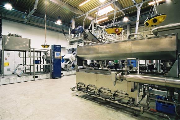 L'impianto, basato su un concetto compatto, è predisposto per rendimenti di 500 kg/h o di 1.000 kg/h