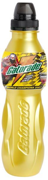 Nuove Bottiglie Gatoreade con etichetta spetial edition casey stoner ducati gusto lemon