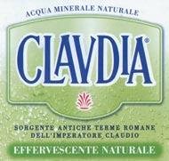 Etichetta Acqua Claudia