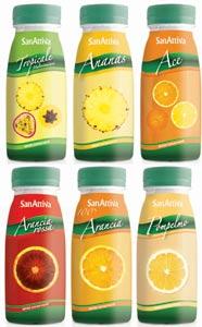 Confezioni Succhi di Frutta 30% bottiglie pet 250 vari gusti SanAttiva spumador