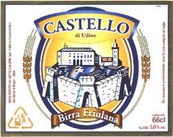 Etichetta Birra Castello di Udine