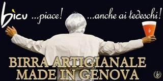 Birrificio Bico Genova Poster Papa Ratzinger