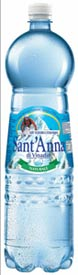 Bottiglia pet sant anna acqua minerale promozione ski card