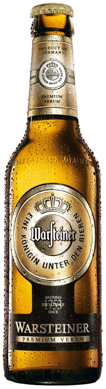 Bottiglia Birra Warsteiner premim verum regate