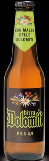 Bottiglia Birra Dolomiti Pils 33 cl Vetro