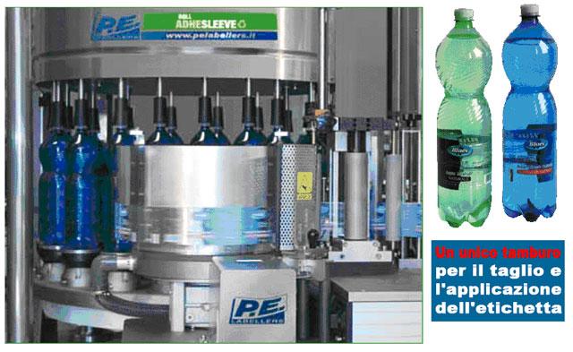 macchina ROLL-ADHESLEEVE Pe Labellers unico tamburo per il taglio e l'aplicazione dell'etichetta