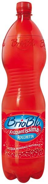 Bottiglie brio blu rocchetta rossa frizzantissima pet acqua minerale