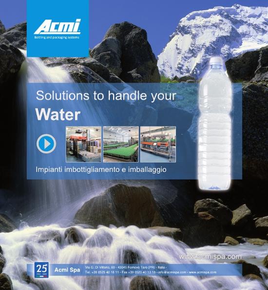 Acmi Impianti di Inbottigliamento campagna pubblicitaria stanta carta ads pubblicità Solution to Handle your water