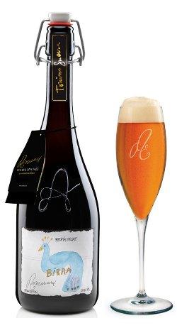 Bottiglia Birra Riserva Speciale Artigianale Amarcord con Bicchiere 75 cl