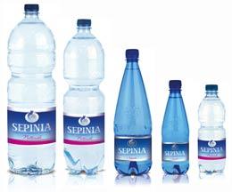 Formait Varie Bottiglie Acqua Minerale Sepina
