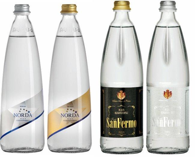 Norda restiling Daggio San Fermo Acqua minerale bottiglia vetro fuori casa horeca