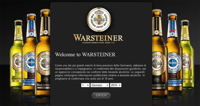 Warsteiner-Immagine nuovo sito web