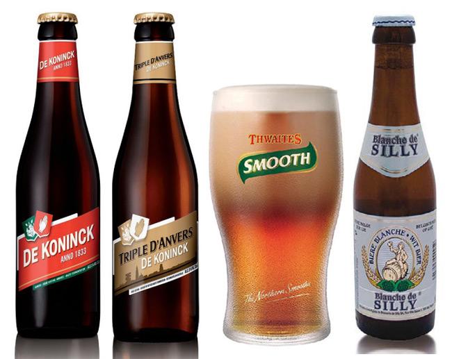 Birre Dibevit  DE KONINCK e DE KONIG TRIPLE D'ANVERS, THWAITES SMOOTH e BLANCHE DE SILLY