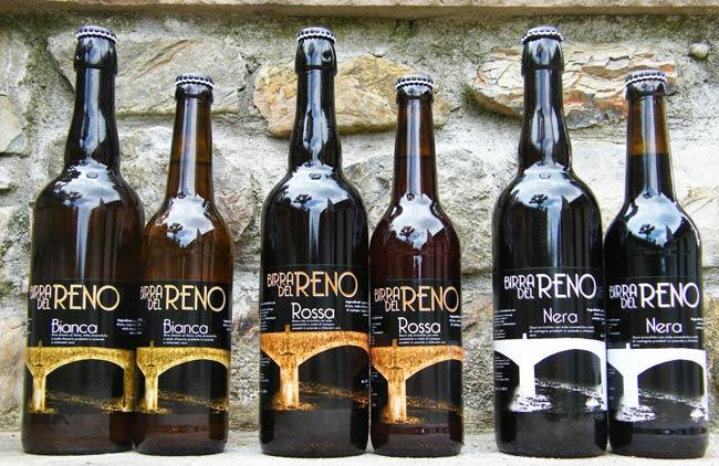 Artigianale Birra del Reno Bottiglia Vetro Azienda Agricola La Tartaruga Bianca al farro Rossa brown ale nera stout