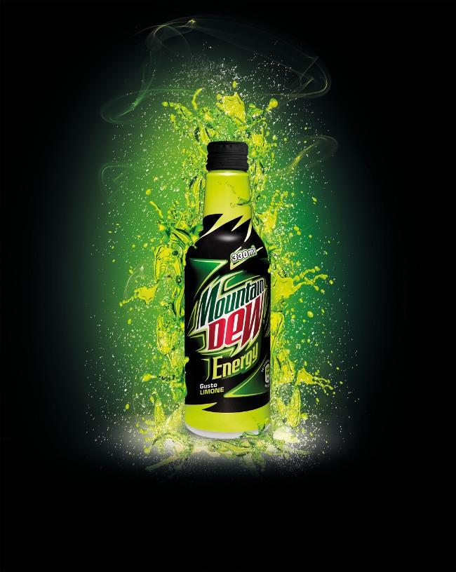 Mountain Dew Energy Bottiglia Pet 33cl. Pepsico Energy Drink
