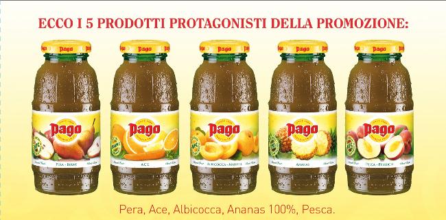 PRODOTTI succhi PAGO bottiglietta in vetro