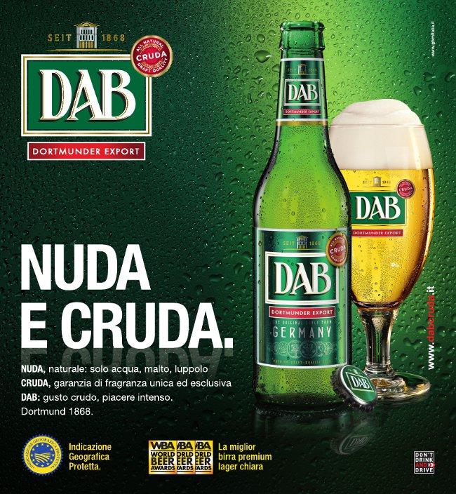 DAB CRUDA BIRRA pubblicità advertising adv campagna